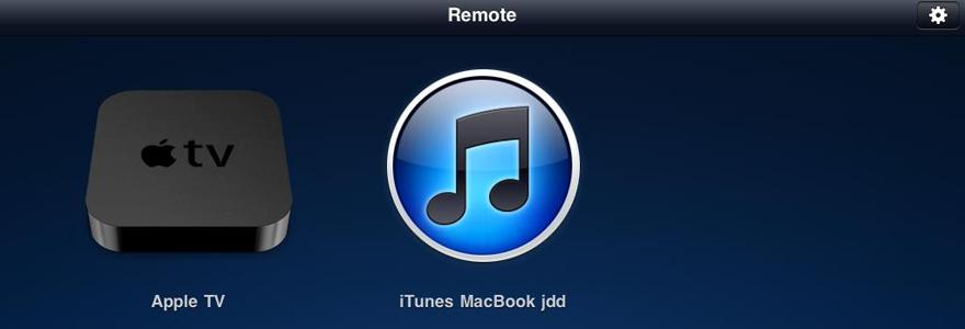 l'app Remote
