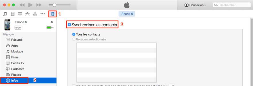 Configuration nouvel iPhone