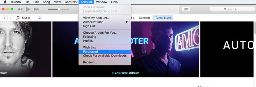 musique via iTunes